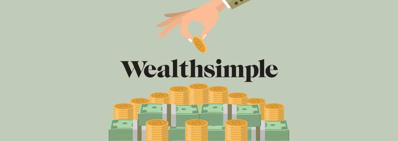Le logo de Wealthsimple (au milieu)