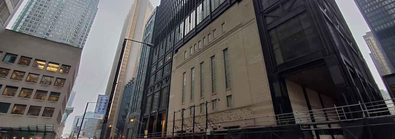 Image: La légendaire bourse de Toronto (TSX) sur laquelle vous pouvez acheter des FNB